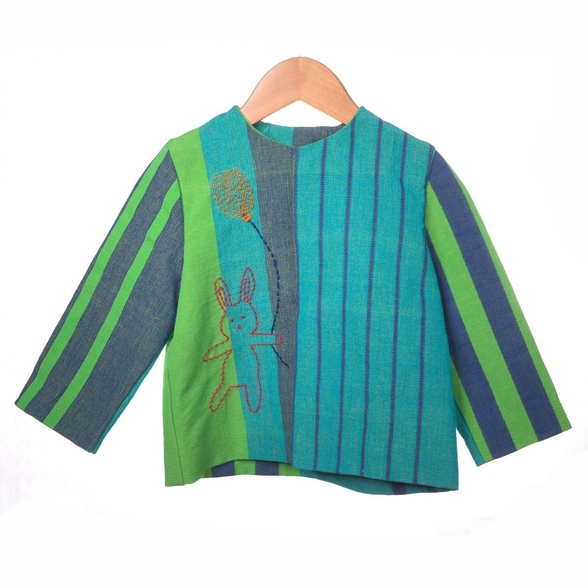 groen gestreept jasje