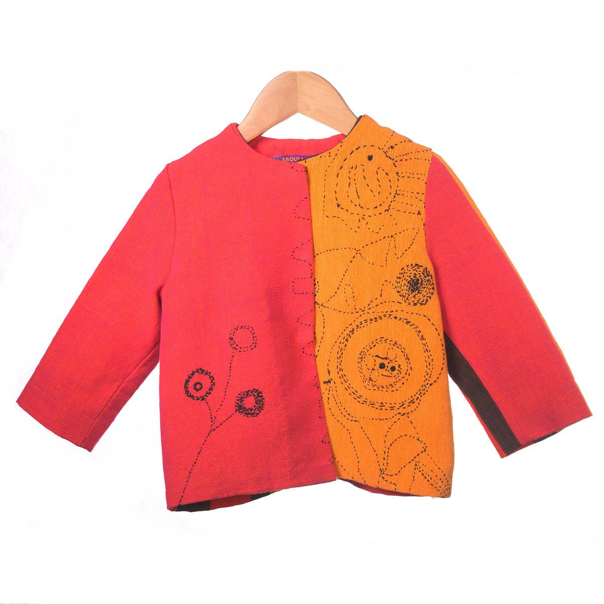 rood oranje jasje donker borduursel