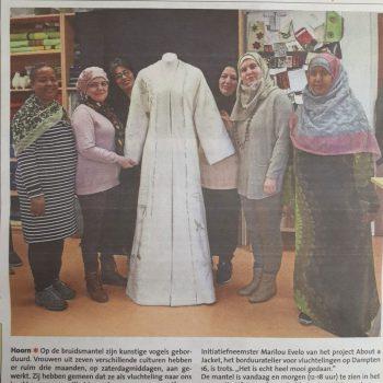 nieuws 8 maart 2019 bruidsmantel about a jacket hoorn