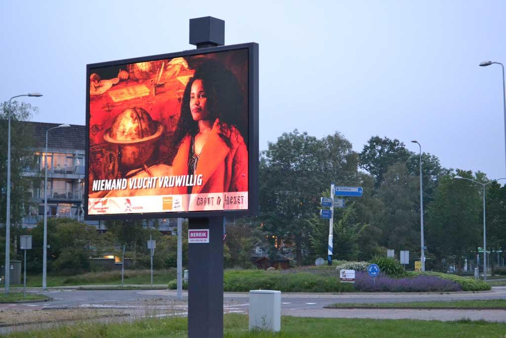 Billboard vlakbij het gemeentehuis van Hoorn