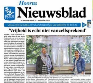 Nasima en Zakya About a Jacket in Hoorns Nieuwsblad foto Vincent de Vries