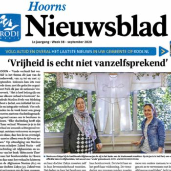 Nasima en Zakya About a Jacket in Hoorns Nieuwsblad foto Vincent de Vries