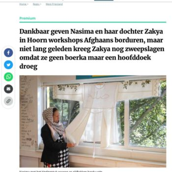 artikel NH dagblad about a jacket